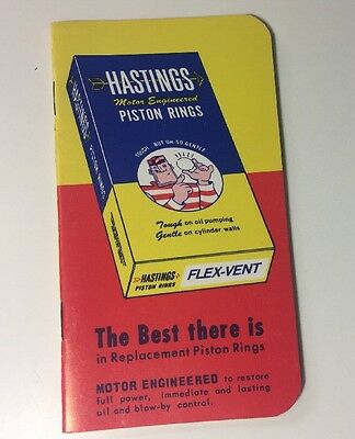 Hastings Piston Rings Notebook Note Pad Paper Advertising Gas Oil