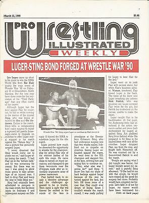 March 12 1990 Pro Wrestling Illustrated Weekly Magazine Sting Ric Flair Luger