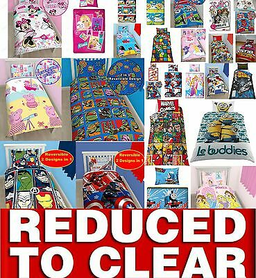 Clearance Disney Character Kids Bedding Single Duvet Quilt Cover Bed Set REDUCED