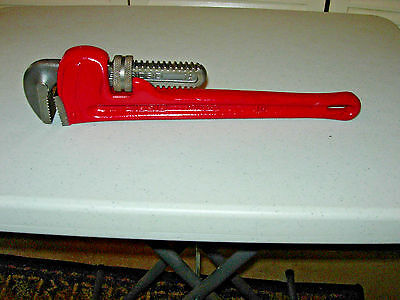 "Ridgid 14"" Pipe Wrench Clean Repainted U.s.a.  Used"