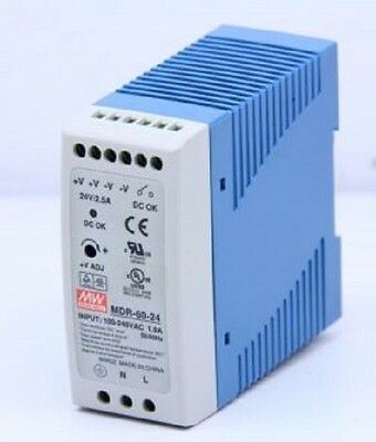 Mean Well Mdr-60-24 - 60W 24V 2.5A Mini Din Rail Power Supply Meanwell Uk Stock