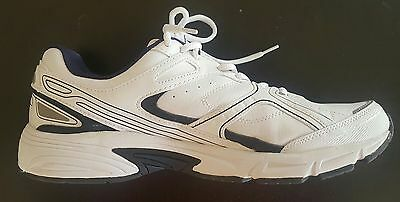 Mens Athletic Walking Shoes Memory Foam  Size 13 White Kirkland