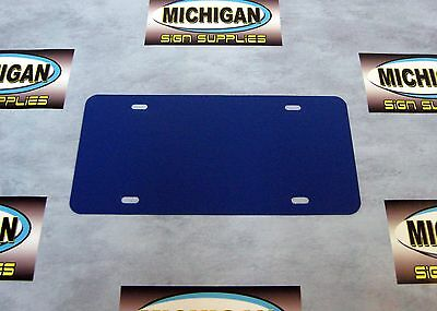 Navy Blue .050 Plastic License Plate Blanks **Create Your Own Designs**