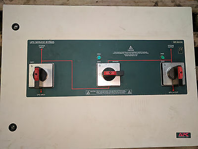Tested Working APC UPS Bypass Switch SBP 80A SS, 15-20KVA, 208Volt, 80Amp