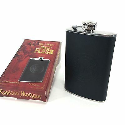 Captain Morgan Rum Promotional Flask Stainless Steel Limited Ed Embossed 5oz