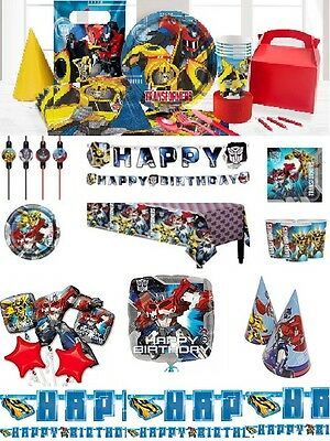 Transformers Birthday Party Supplies Tableware Plates Cups Invites Favours Set