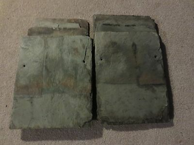 Vintage Slate Roof Shingles Tiles Crafts Painting Pinterest Wall Decor Antique