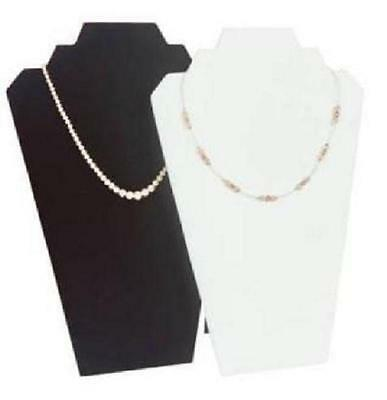 2 Step Velvet Chain Necklace Jewelry Display Easel - Black or White CANADA STORE