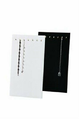 7 HOOK Velvet Chain Necklace Jewelry Display Easel - Black or White CANADA STORE