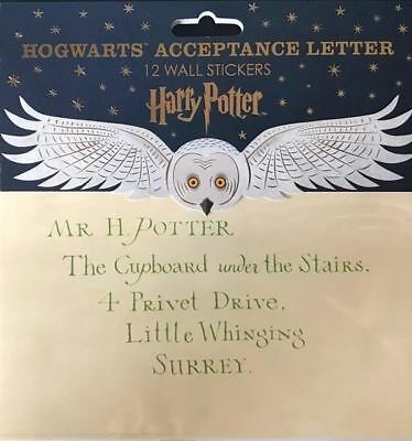 Harry Potter : HOGWARTS ACCEPTANCE LETTER Wall Stickers from MINALIMA