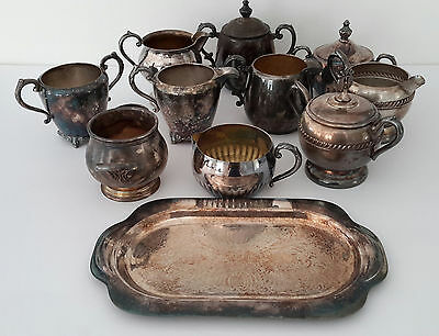 Mixed Lot of Vintage Silver Plate Items