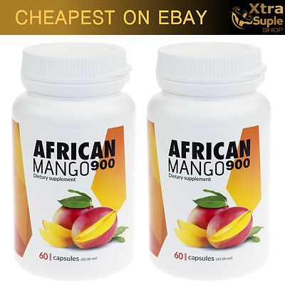 2 x AFRICAN MANGO 900 Weight Loss Slimming pills Fat Burner 60 Capsules