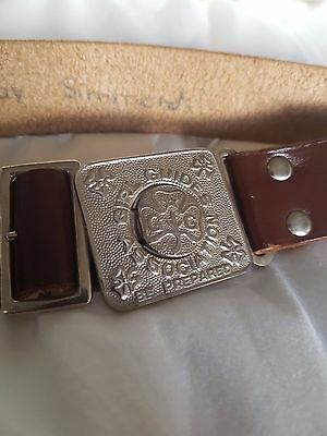 Vintage Leather Girl Guides Belt Retro Collectible