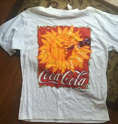 Vintage 1995 Coca Cola T Shirt Nwt Advertising Tultex Cotton Xl