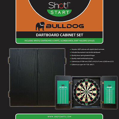 Shot Bulldog Cabinet and Dartboard set with FREE SHIPPING!!!