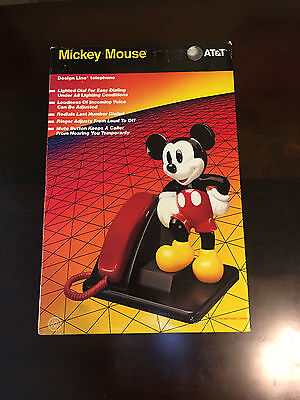 AT&T Mickey Mouse Telephone Telephone Headset, New FREE SHIPPING BRAND NEW