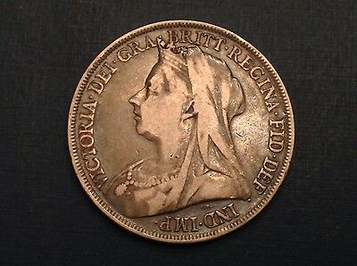 - 1898 Great Britain Victoria One Silver Crown LXII