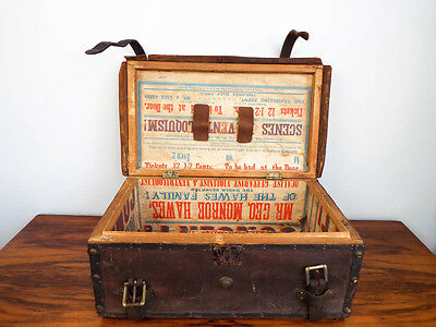 Vintage Small Steamer Trunk Storage Chest Luggage Coffee Table Suitcase