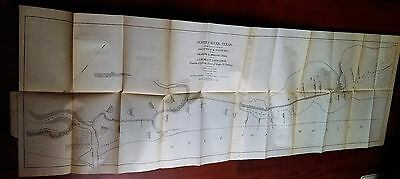 1899 Oyster Creek Texas Brazos River Oyster Bay Galveston and Brazos Canal Map