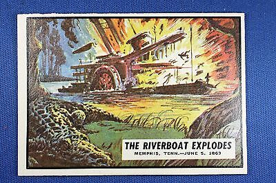 1962 Topps Civil War News - #45 The Riverboat Explodes - Ex/Mt Condition