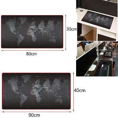 900*400*2MM World Map Anti-Slip Computer Rubber Game Mouse Pad Mat DE