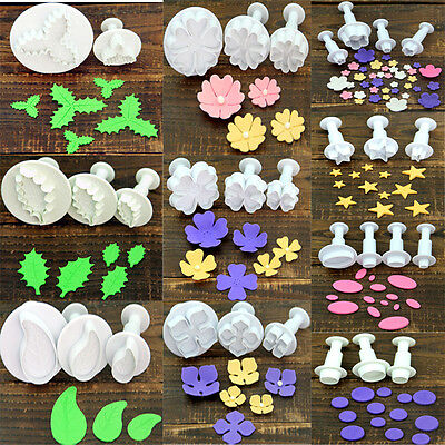 Flower Leaf Geometry Shape Plunger Cookie Cutter Biscuit Cake Decorating Mould