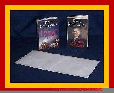 "5 - 11"" x 24"" Brodart ARCHIVAL Fold-on Book Jacket Covers - Super Clear Mylar"