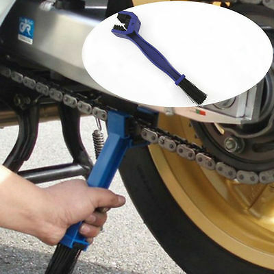Motorbike Chain Maintenance Cleaning Rust Dust Oil Dirt Brushes Tool Dual Head