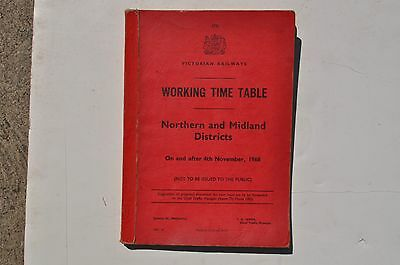 V.R. 1968 Working timetable