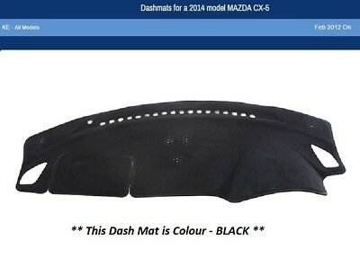 Dash Mat Moulded Black for Mazda CX5 CX-5 KE 02/12 - 02/17 Dashmat Lifetime Wty