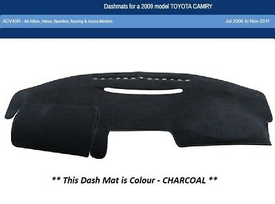 Dash Mat Moulded Charcoal Toyota Camry 07/06 - 11/11 ACV40R Dashmat Dashboard