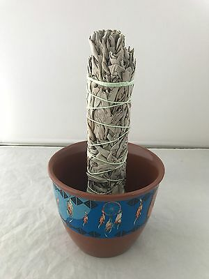 Ceramic Smudge Large Bowl White Sage Herbs Spiritual Incense Holder Dreamcatcher