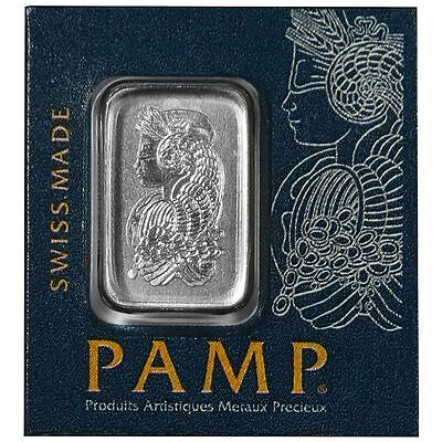 Platinum 1 Gram Pamp Suisse Bar .9995 Fine Multigram Fortuna (In Assay) New