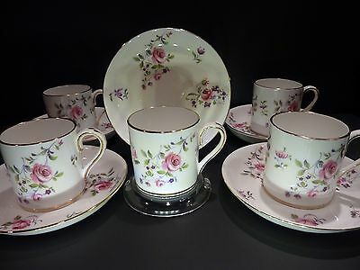 Crown Staffordshire F7295 Demitasse Cup & Saucer ~ Pink Roses