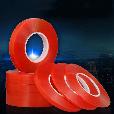 50M Adhesive Mobile Cell Phone Repair 2-10mm Double Side Red Tape Strong Sticky