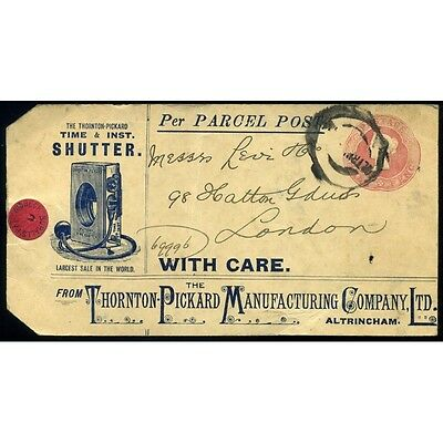 PARCEL POST 1899 Printed Advertising Label Postal Stationery to Order