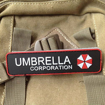 Umbrella Corporation Badge Rubber Military Morale 3D Special Tactical Patch PVC
