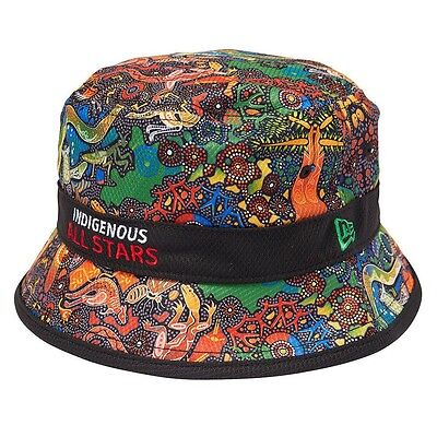 New Era INDIGENOUS ALL STARS 2017 TRAINING BUCKET HAT Size-S, Embroidered Logo