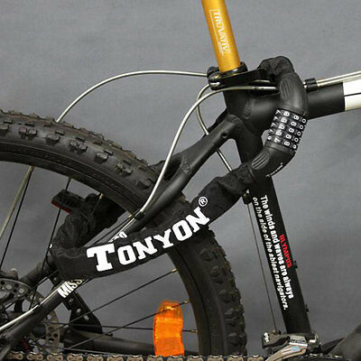 AU Tonyon Drill Resistant Resettable Passwords Lock Bike Motorcycle Chain Lock D
