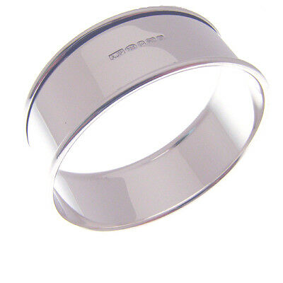 Silver Christening Napkin Ring.  Hallmarked Sterling Silver Serviette Ring