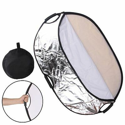 """5-in-1 24""""x35"""" New Handheld Photography Mulit Collapsible Reflector Set 60*90cm"""