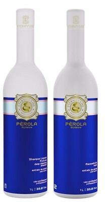 Brazilian Perola Keratin Blow Dry Hair Treatment Kit (1 Litre x 2) - Eternity