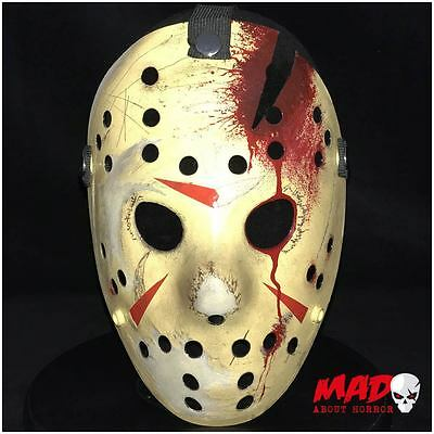 Deluxe Jason Voorhees Hockey Mask Part 4 Friday 13th Horror Film Collectible