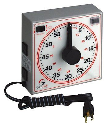 "GraLab Model 171 60 Minute General Purpose Timer, 7-1/2"" Length x 7-1/2"" Width x"