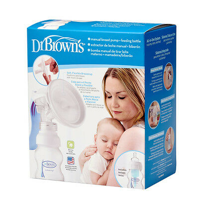 Dr Brown's Manual Breast Pump and Wide Neck Feeding Bottle Dr Browns