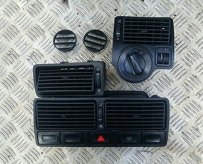 Volkswagen Golf Mk4 gti Bora dash vent set with switches and headlight controls