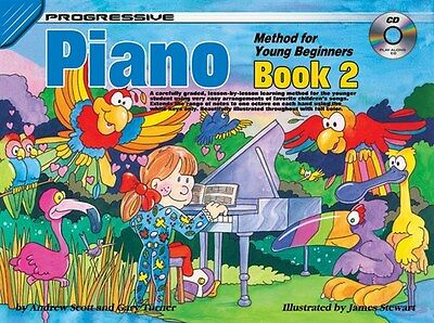 Progressive Piano Method Young Beginners Book 2. Sheet Music +CD. Learn Play NEW