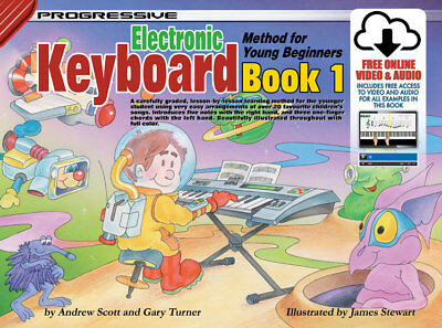 Progressive Electronic Keyboard For Young Beginners Book 1 +Download Audio Video