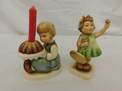 Goebel Hummel Figurines Birthday Cake #338 And Forever Yours #793