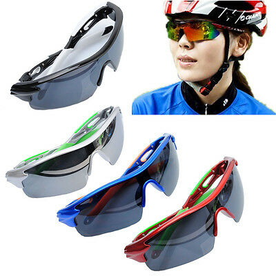 AU Sport Cycling Bicycle Bike Riding UV400 Protective Sun Glasses Eyewear Goggle
